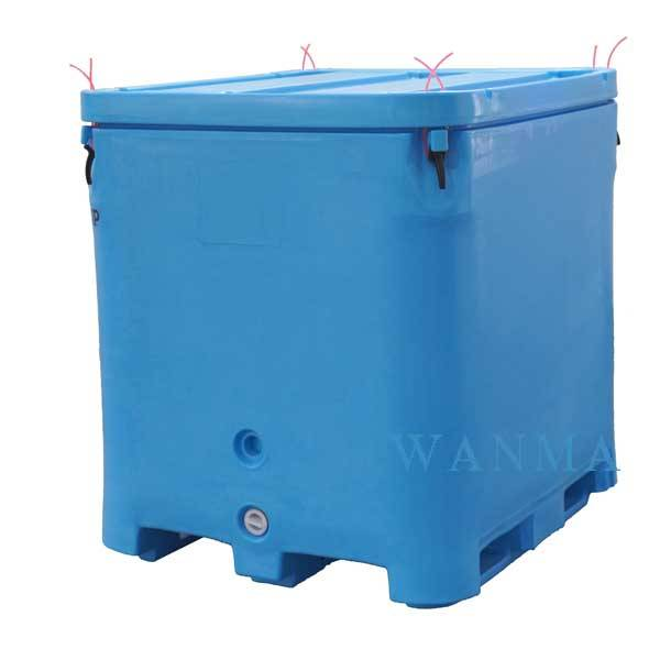 FDA Materials LLDPE, 1000L heavy duty Insulated Fish Container with Lid Featured Image