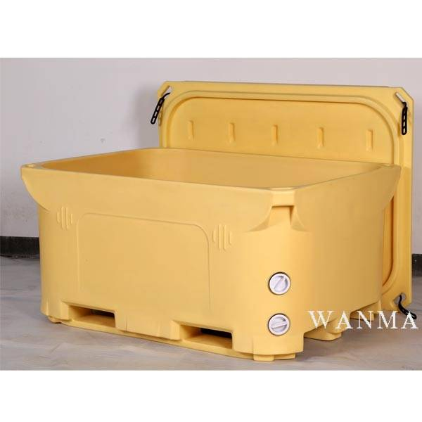 Factory supplied Hard Ice Cooling Box Cooler - 1400L Insulated ice chest – Wanma Rotomold