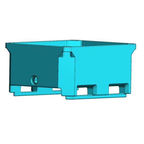 Special Design for Large Seafood Ice Container - 200L Insulated pallet container for transportation – Wanma Rotomold