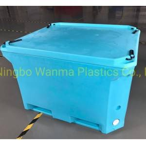 660L FDA Materials LLDPE Insulated Fishing Boxes to Keep Fish Fresh