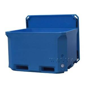 Factory For Frozen Seafood Shipping Ice Box - 660L Insulated meat recycle container – Wanma Rotomold