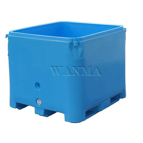 Hot Selling for Coolers Ice Box - Durable, Double Wall, 800L Insulated Fish Container with Lid – Wanma Rotomold