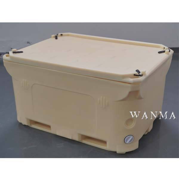 OEM/ODM China Ice Chest Cooler - 1000L Insulated pallet container for Tunas  – Wanma Rotomold