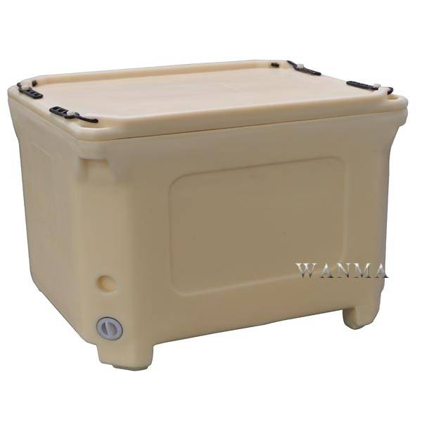 Bottom price Food Grade Cooler Box - Insulated Bulk Container 300L to Keep Fish Cold and Frozen – Wanma Rotomold