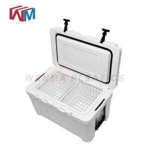 65L hvit rotomolded Ice Box