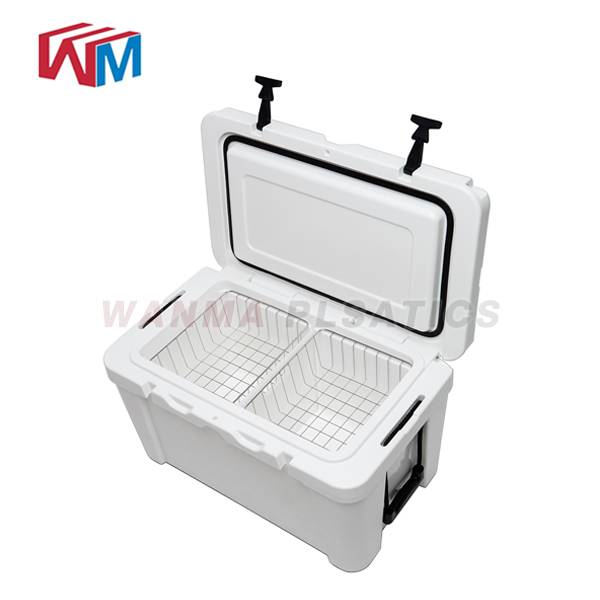Chinese Professional Plastic Cooler With Handle - 65L white Rotomolded Ice Box – Wanma Rotomold