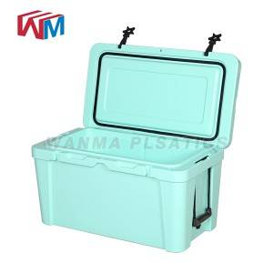 Manufactur standard Pvc Rolling Cooler - 65L Blue  Picnic Ice Chest – Wanma Rotomold