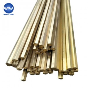 Aluminum bronze hexagonal rod