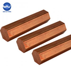 Copper hexagonal rod