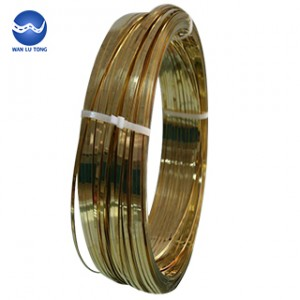 Lead brass flat wire