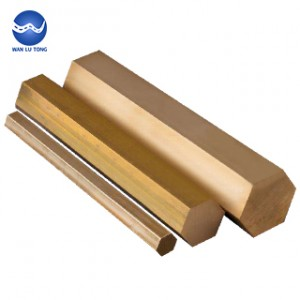 Lead brass hexagonal rod