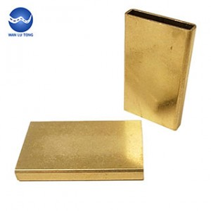 Lead brass rectangular tube