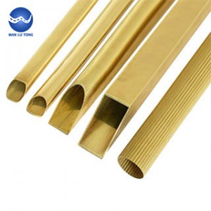Lead brass shaped tube