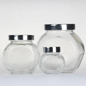 Glass Jar Flat Drum Bottle,180ml 380ml