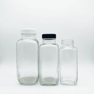 Wholesale Clear  200ML/350ML/480ML Milk Juice Glass Bottle   with Lids in Xuzhou