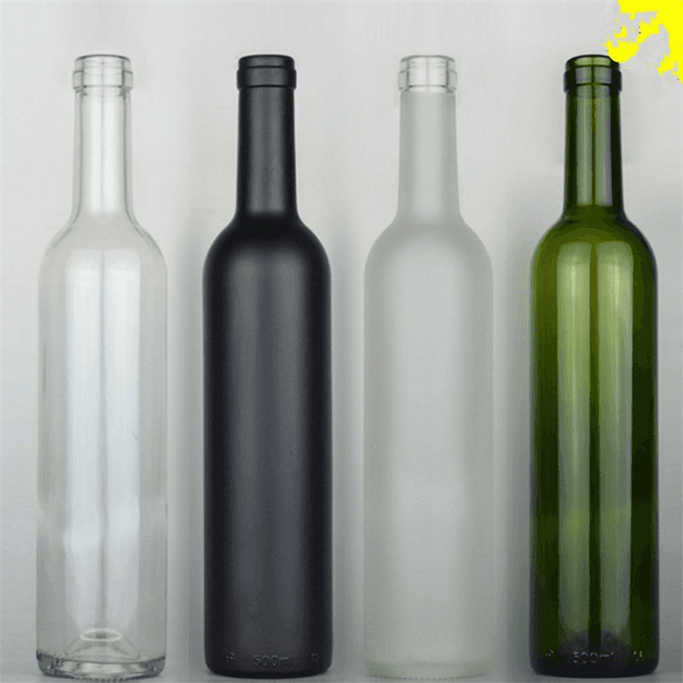 Clear Glass Bottle 750ml Burdegalam planae carinis Corcagium perago tecum Premium Wine & Naturalis corks PVC Shrink Capsulae