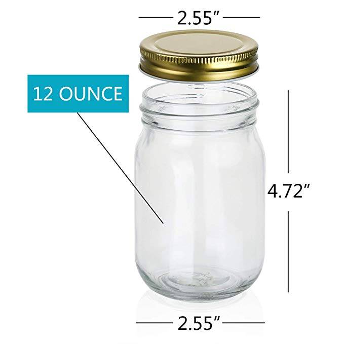 12oz Ball Wide Mouth Glass Herb Storage Jar