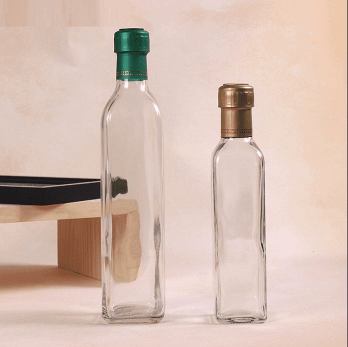 250ml 500ml 750ml 1000ml Square Cooking Oil Use Olive Oil Glass Bottle