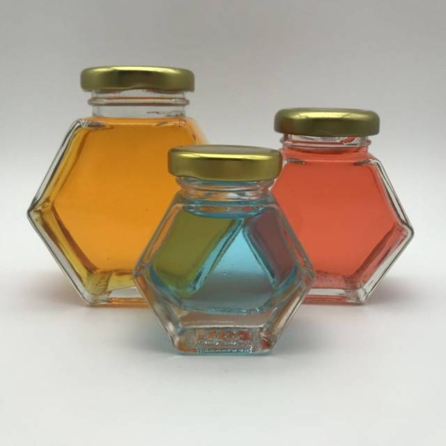 375ml Hexagonal Glass Honey Jar Honey Bottle With Screw Cap