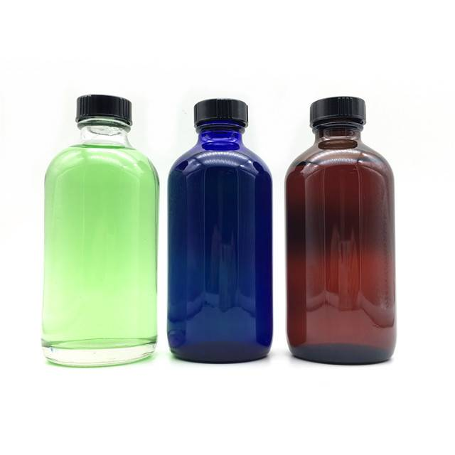 Discount wholesale Glass Boston Round Bottles -