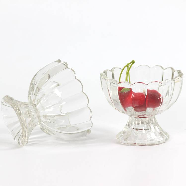 Unique crystal glass cup ice cream glass