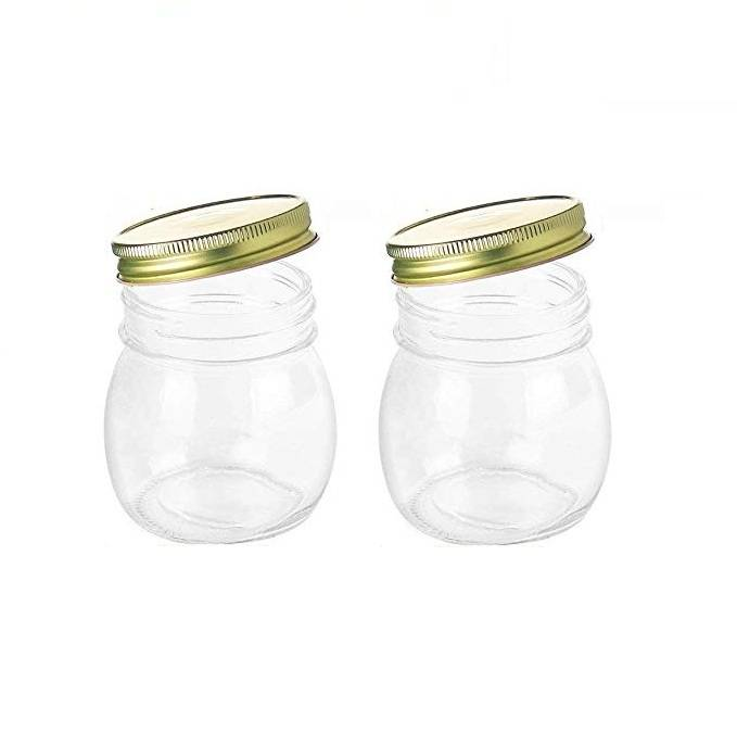 Storage Canning Jars 10 oz Wide Mouth Glass Jars For Caviar Herb Jelly Jams Honey