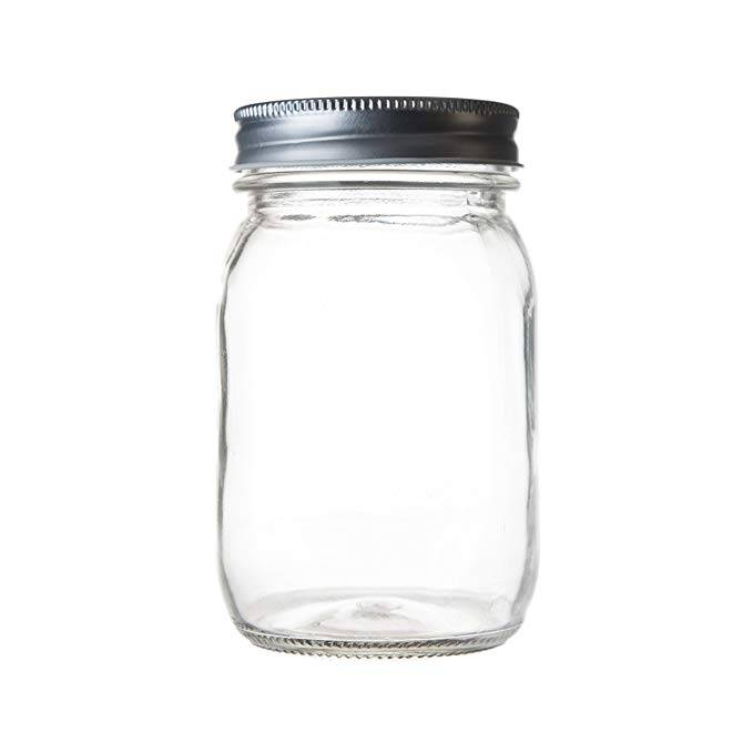 Regular Mouth Glass 16Oz Mason Jars  With Metal Lids Featured Image
