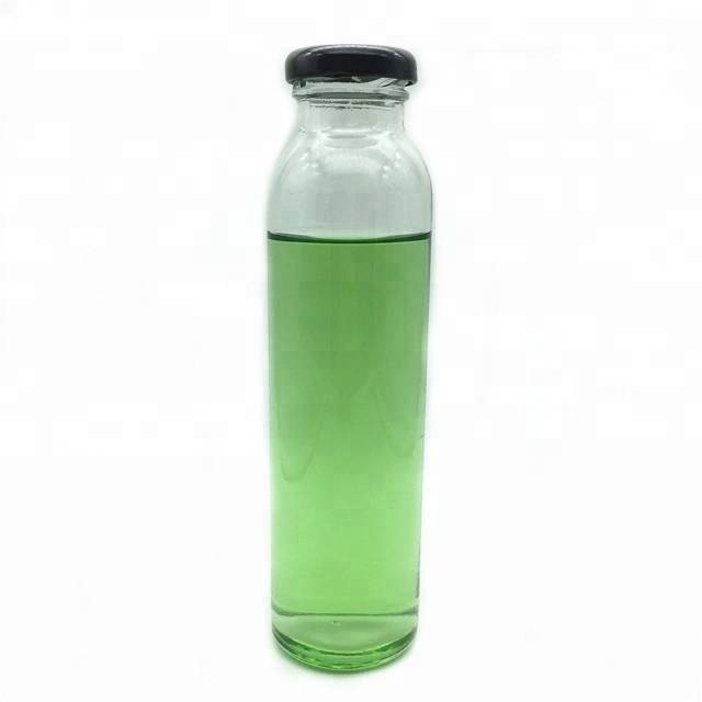 Clear round 310ml glass beverage bottles