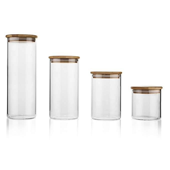 Factory made hot-sale Glass Screw Top Jar -
