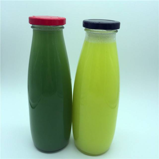 500ml bottle packaging milk beverage fruit juice milk glass bottle with plastic/aluminum cap