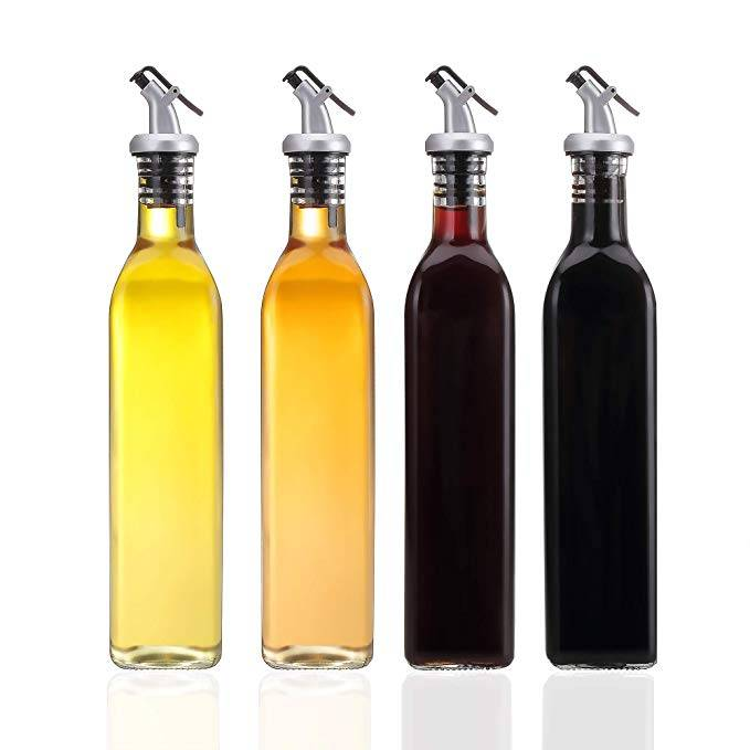 8oz 250ml 16oz 500ml Oil and Vinegar Glass Bottle with Olive Oil Dispenser