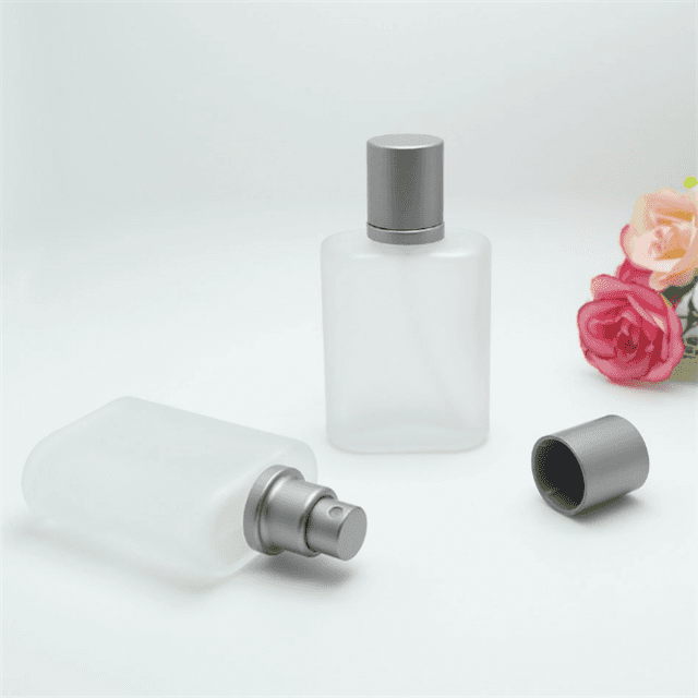 30ml portable frosted rectangle square glass perfume Perfume bottling bottle with pump sprayer