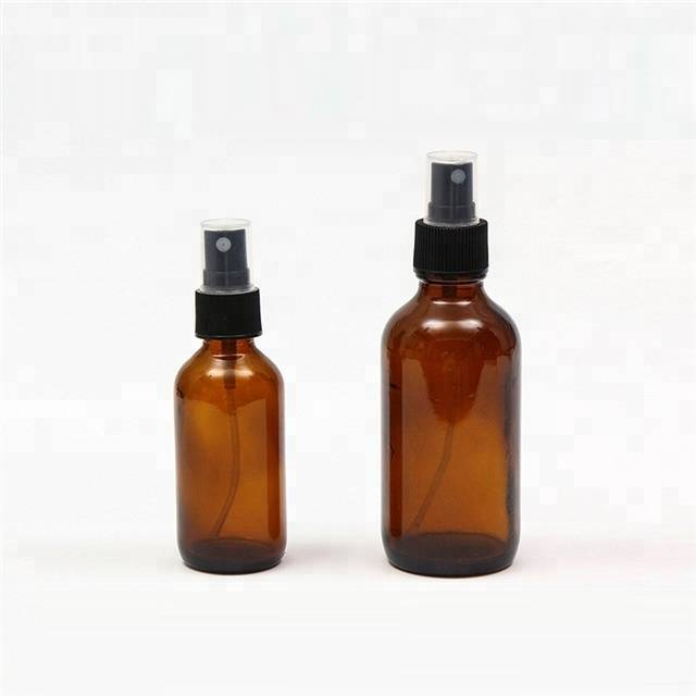 60ml 120ml 2oz 4oz amber essential oil spray bottle glass