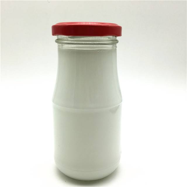 bamboo type shape  Christmas use 8oz/250ml glass bottle for milk tea milkshake