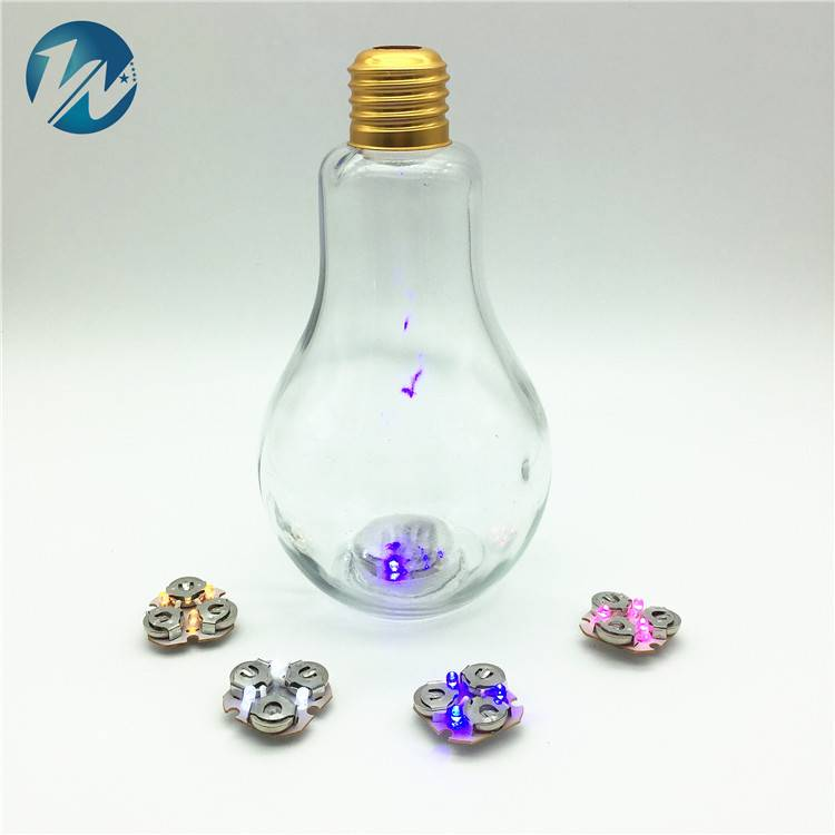 Creative Led Light Bulb Glass Bottle For Decoration