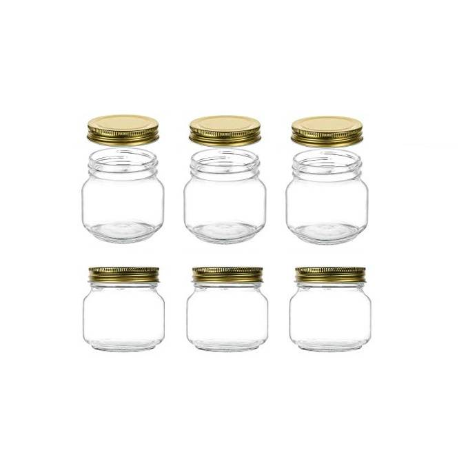 250ml Glass Canning Jars 8oz Glass Mason Jars For Caviar Herb Jelly Jams Honey Dishware