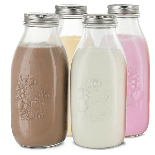 Hot sale reusable dairy products glass bottle 1L for milk Featured Image