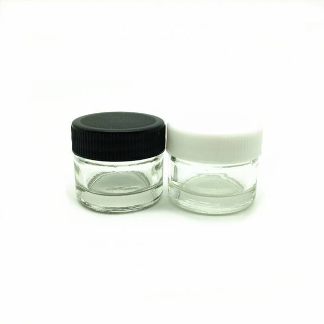 glass concentrate container small 5ml glass jars for make up, eye shadow, powder, waxes