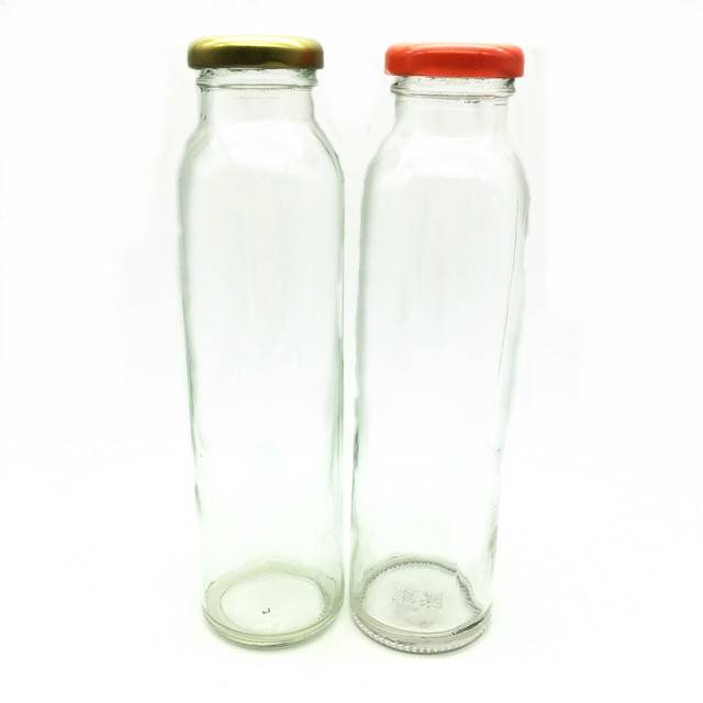 round  drinking glass beverage bottle for juice,water,milk tea