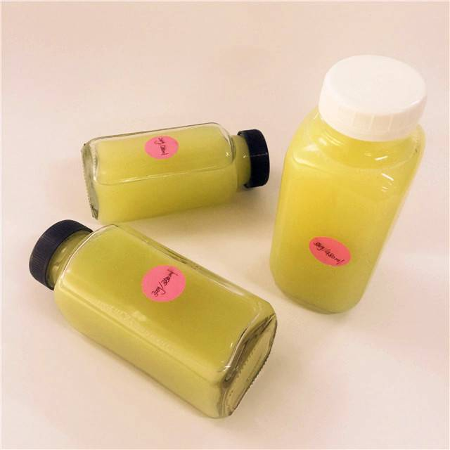 16oz 500ml French Square Glass Bottle Milk with Plastic child Lids for Juice Cleanse Beverage