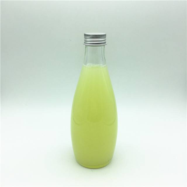 330ml glass bottle for mineral water glass water bottle with lid