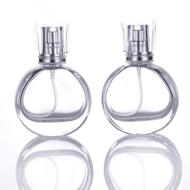 25ml  Clear White Luxury Crystal Perfume Bottle for Men and Women