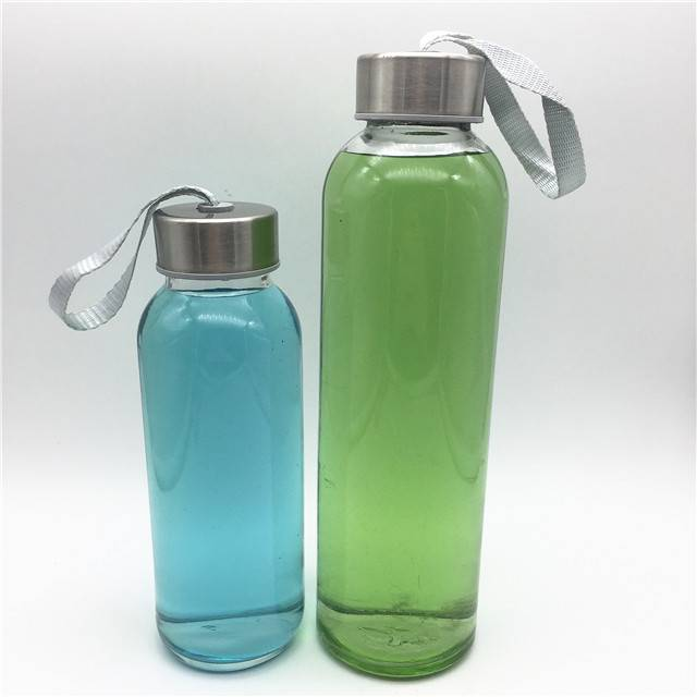 300ml 500ml 10oz 16oz round students use  sport water glass bottle