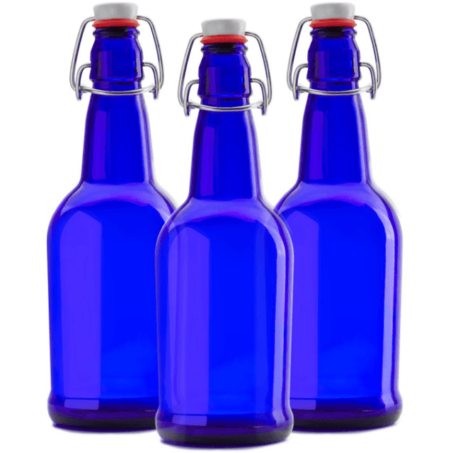 480ml Blue Easy Open End Swing Top Beer glass Bottles