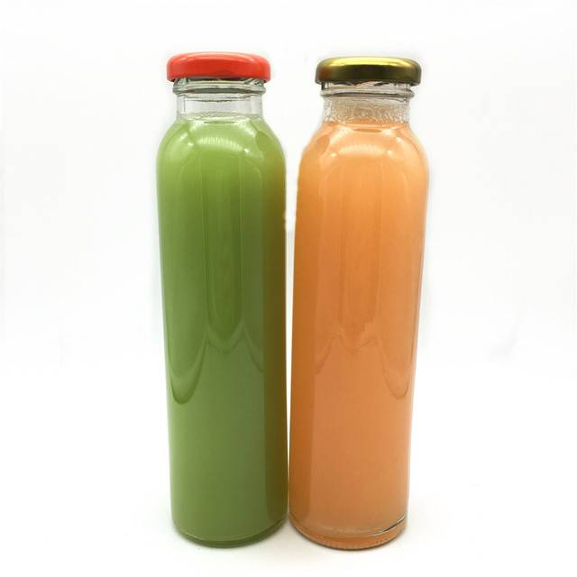 round  drinking glass beverage bottle for juice,water,milk tea Featured Image