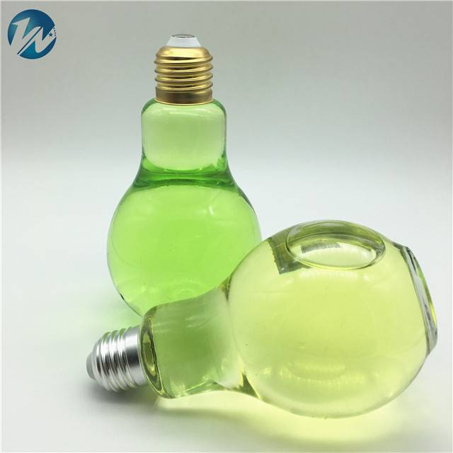 300ml Bubble tea drink juice milk light bulb glass bottles with screw cap