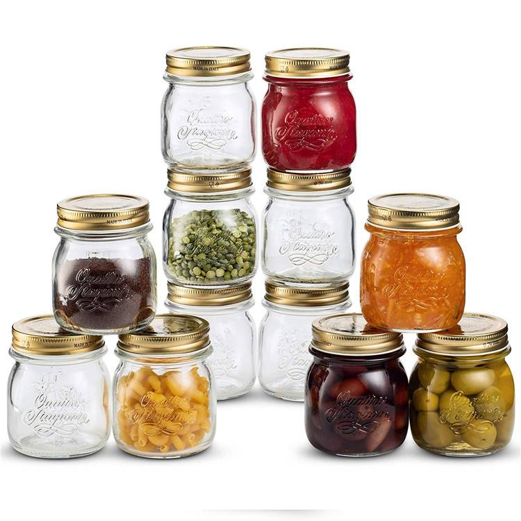 Glass Mason Jars for Jam Jelly baby food Craft Spices with Metal Airtight Lid