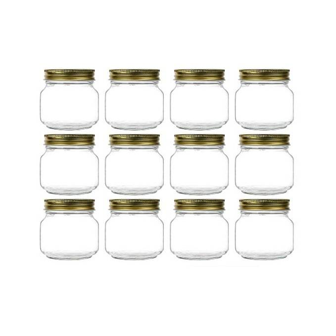 8 oz Glass Storage Canning Jars Ball Wide Mouth Mason Jars For Caviar Herb Jelly Jams Honey