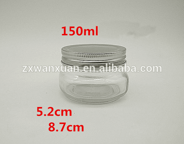 150ml 250ml Ball wide mouth mson jars with metal lids