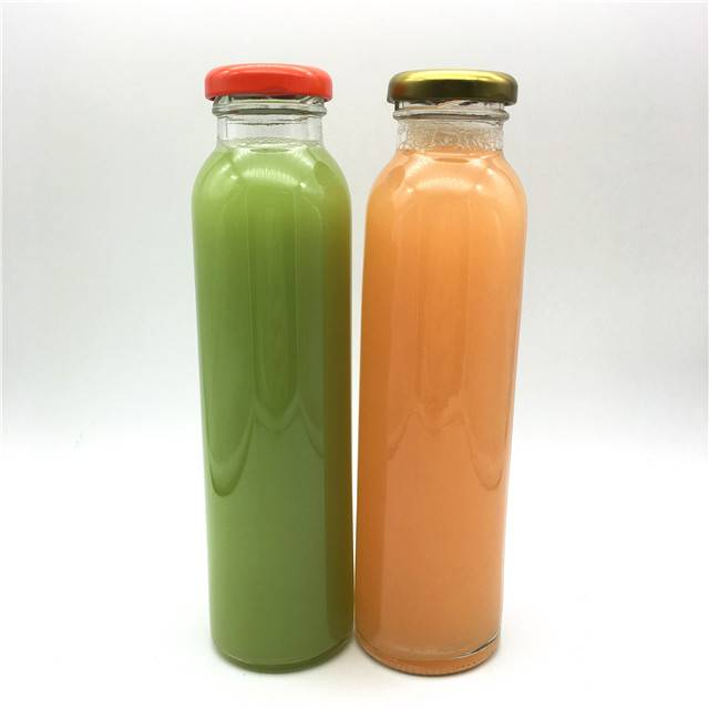 300ml straight side juice/beverage glass bottle for juice with twist off cap